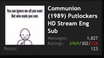 Communion (1989) Putlockers HD Stream Eng Sub